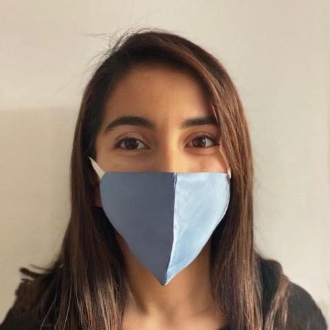 Sky blue Nano silk face mask