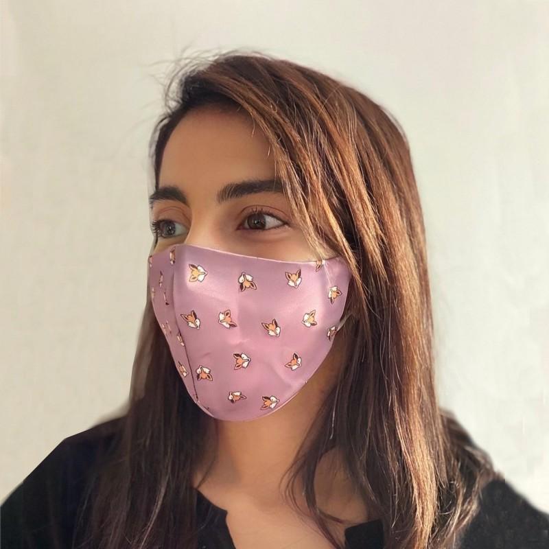 Masque en tissu satin J'ADORE